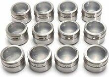 12Pcs Magnétique Épices Pot Rangement Stockage