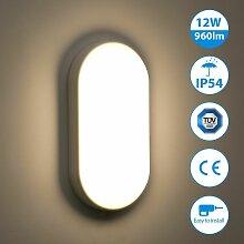12W Plafonnier LED, 960LM éclairage IP54 Etanche,