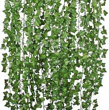 12X 200 cm lierre artificiel raisin vignes feuille