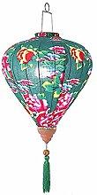 14 '' Chinois Style Lanterne en Tissu