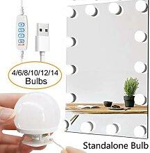 14 ampoules détachables LED pour miroir de