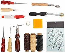 14 pièces outil de couture à la main en cuir,