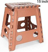 15 Pouces Chaise Pliante en Plastique, Tabouret,
