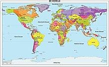 1500 pièces Puzzles carte du monde des pays-bas