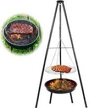160 cm Barbecue Suspendu, Gril Barbecue Charbon de