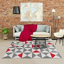 160x230 - tapis berbère TRIANGOULAM Rouge tapis