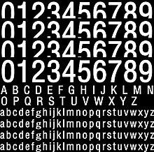 170 Autocollants Chiffres et Lettres en Vinyle