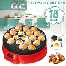 18 Trous Takoyaki Poêle Grill DIY 650W 220V PRISE