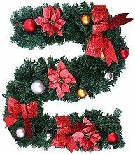 180CM Guirlande sapin artificiel Noël décoration