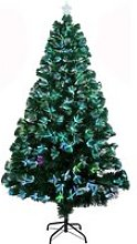 180cm Sapin de Noël Artificiel Lumineux Fibre