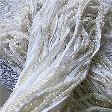 19.6In ruban blanc imitation perle dentelle