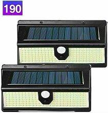 190 LED Lampe Solaire Extérieur, éclairage