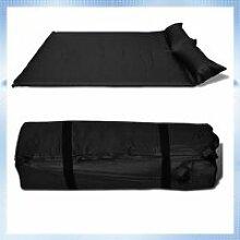 190 x 130 x 5 cm Matelas autogonflant noir (2