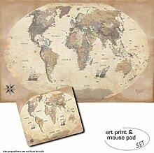 1art1 Cartes, Carte du Monde, Édition 2011, Style