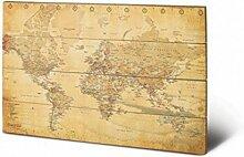 1art1 Cartes du Monde Art sur Bois - Carte du