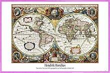 1art1 Cartes Historiques Poster et Cadre