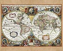 1art1 Cartes Historiques Poster Reproduction -