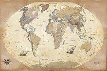 1art1 Cartes Poster - Carte du Monde, Édition