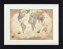 1art1 Cartes Poster De Collection Encadré - Carte