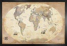 1art1 Cartes Poster et Cadre (MDF) - Carte du