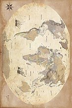 1art1 Cartes Poster Reproduction - Carte du Monde,