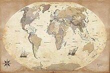 1art1 Cartes Posters XXL - Carte du Monde,