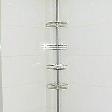 1pc ajustable salle de bain étagère sans