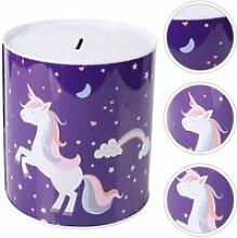 1pc jolie créative licorne tirelire boîte