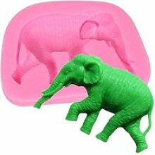 1pcs Moule en Silicone Forme de Éléphant Moule