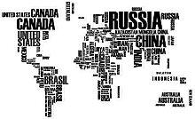 1Pièce Nom du Pays Autocollant Mural Lettres
