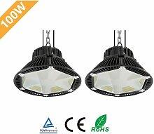 2× 100W UFO LED Anti-Éblouissement Suspension