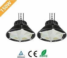 2× 150W UFO LED Anti-Éblouissement Suspension