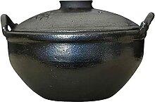2.5 L Cocotte Stoneline avec Couvercle,Noir
