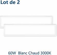 2× 60W Dalle LED Panneau Luminaire LED 120*30CM