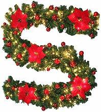 2,7M Guirlande lumineuse sapin artificiel de Noël
