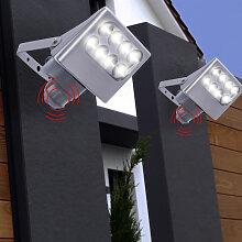 2 appliques LED, détecteurs de mouvement, spots