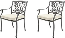 2chaises de jardin en fonte d'aluminium
