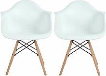2 Chaises de Salle à Manger avec Fauteuil design