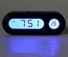2 en 1 Voiture Numérique Horloge LCD Affichage