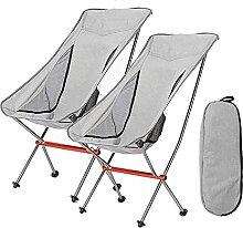 2 Ensembles Chaise de Camping Pliante,