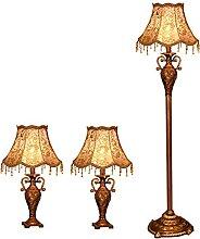 2 Lampes De Table Et 1 Ensemble De Lampadaire