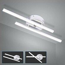 2 Lumières Blanc Froid Plafonnier LED, 14W Lampe