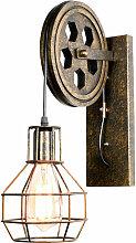 2 Pack Applique Murale Lampe Industrielle Fer