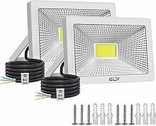 2 Pack Projecteur LED Extérieur 50W, CLY 6500K