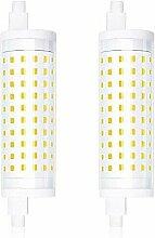 2-PCS Dimmable 15W R7S 118mm Ampoule LED Lampe