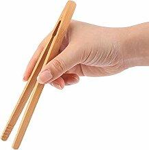 2 pcs/lot bambou aliments pinces de cuisine