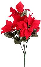 2 pcs Poinsettia Rouge Plante De Noël Fleur