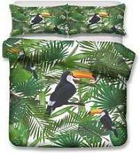 2 Personne Parures de lit Toucan Tropicale plaîte