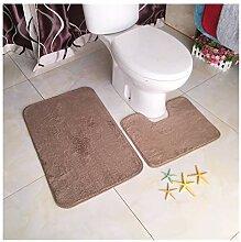 2 Pièces - Tapis de Toilette et Tapis de Bain