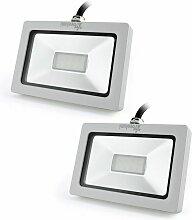 2× Projecteur à LED 10W Ultraléger pour